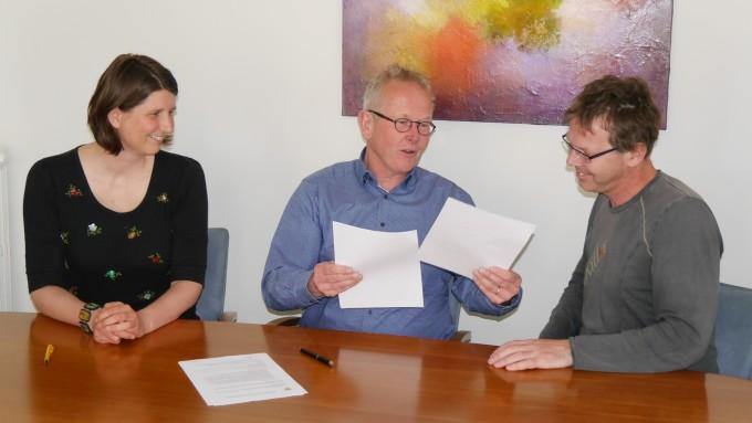 Ondertekening gebruikersovereenkomst grond