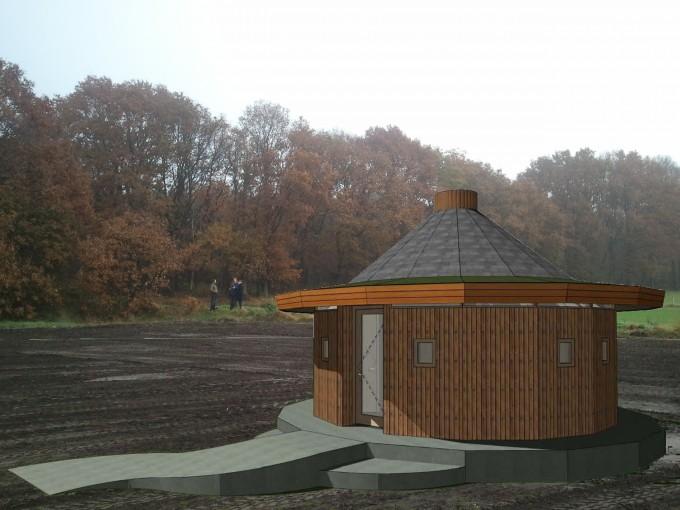 Biobased Expohuis op terrein Ecodorp Boekel